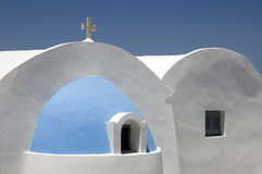 Church rooftop. The view of a church rooftop on Greek Island of Santorini Royalty Free Stock Photos
