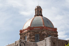 Church rooftop details in mexico Royalty Free Stock Photos