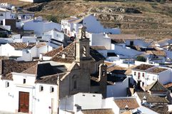 Church and rooftops, Antequera, Spain. Stock Image