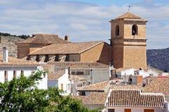 Church and rooftops, Velez Blanco, Spain. Royalty Free Stock Photo