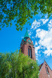 Church Rosenau. Church of the Intercession of the blessed virgin Mary (formerly Lutheran Church Rosenau) in Kaliningrad Stock Image