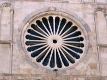 Church rosette. From the outside stock image