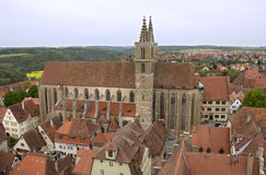 Church of Rothenburg ob der Tauber, Germany Stock Photography