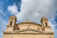 Church Rotunda of Mosta, Malta. Church of the Assumption of Our Lady, known as the Rotunda of Mosta or Rotunda of St Marija Assunta or simply The Mosta Dome Stock Photography