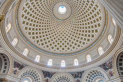 Church Rotunda of Mosta, Malta. Church of the Assumption of Our Lady, known as the Rotunda of Mosta or Rotunda of St Marija Assunta or simply The Mosta Dome Royalty Free Stock Image