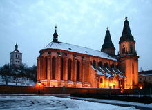 Church in Roudnice Stock Photography