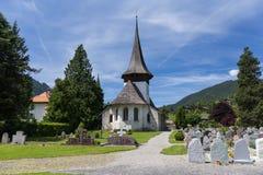 Church in Rougemont Vaud canton Switzerland Stock Image