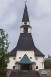 The church of Rovaniemi, Lapland. Royalty Free Stock Images