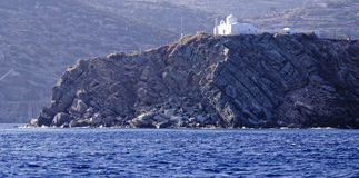 Church on seacoast, Greece Stock Photography
