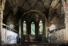Church Ruin. Old Church Ruin, Zeitz, Germany royalty free stock photo