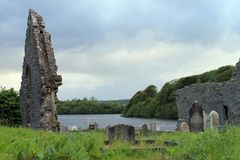 Church ruin and cemetery from Donegal. Royalty Free Stock Photo