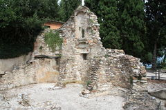 Church Ruin San salvatori. In Sirmione Garda lake Royalty Free Stock Photography