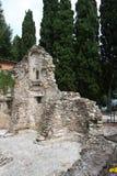 Church Ruin San salvatori. In Sirmione Garda lake Stock Images