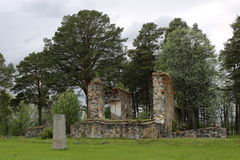 Church ruin in Sunne in Jamtland County, Sweden.  Royalty Free Stock Images