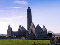 Church ruin in sunny day Royalty Free Stock Image