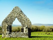 Church ruin in sunny day Stock Photography