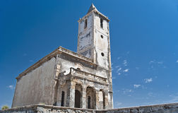 Church ruins. In Cabo de Gata, Almería royalty free stock photography