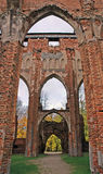 Church ruins. In Tartu, Estonia royalty free stock photo