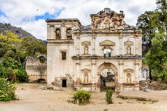 Church ruins, Antigua, Guatemala. Church ruins in colonial city & UNESCO World Heritage Site of Antigua, Guatemala, Central America royalty free stock image