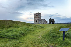 Church Ruins at Dusk Royalty Free Stock Photo