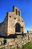 Church ruins in historical village of Castelo Mendo stock photo