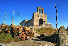 Church ruins in historical village of Castelo Mendo Stock Photography