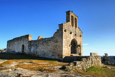 Church ruins in historical village of Castelo Mendo Stock Images