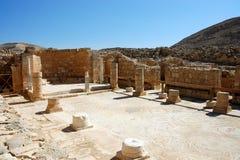 Church ruins in Nabataean city Memphis, Israel Royalty Free Stock Images