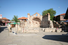 Church ruins in Nessebar Stock Photo