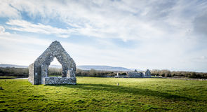 Church Ruins. The ruins of O'Heyne's Church at Kilmacduagh archeological site, Co. Galway, Ireland Stock Image