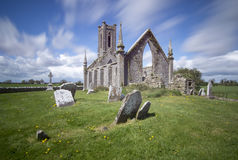 Church Ruins. Old abandoned church and cemetry (Ballinafagh) ruins in Ireland royalty free stock photography