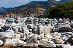 Church ruins in Selcuk Stock Image