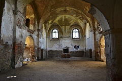 Church ruins St. Barbora in west Czechia Royalty Free Stock Photos
