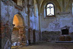 Church ruins St. Barbora in west Czechia Royalty Free Stock Images