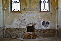 Church ruins St. Barbora in west Czechia Stock Photo