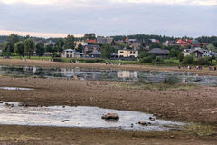 Church ruins on the St Meinard island latvia ikskile on river Daugava. Photo taken in 26 august, 2017 Stock Image