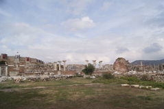 The church ruins in Turkey Stock Images