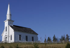 Church in Rural Canada Stock Images