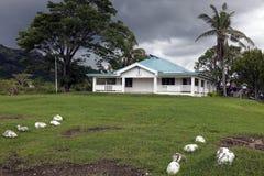 Church in rural Fiji Stock Photo
