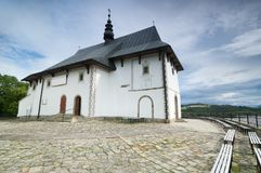 Church in rural Poland Royalty Free Stock Images