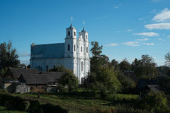 Church in rural village Stock Photos
