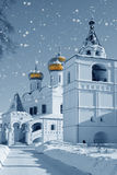 Church in Russia, Christmas royalty free stock photo