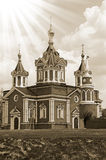 Church in russia. At Kolomna kremlin Royalty Free Stock Images