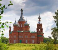 Church in Russia of red brick Royalty Free Stock Image