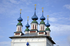 The Church of Russia, of white stone , Orthodox Christianity. Nature Royalty Free Stock Photos