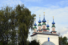 The Church of Russia, of white stone , Orthodox Christianity,. Nature Stock Image