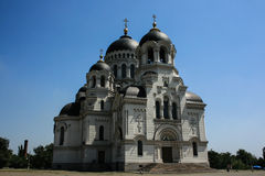 Church russian black dome. Cathedral Windows stained glass carvings moldings history old Royalty Free Stock Photos