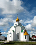 Church. The Russian Orthodox Church on a background of clouds Stock Image