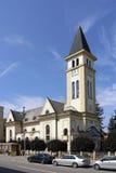 Church in Ruzomberok. Town Ruzomberok in Liptov region in Slovakia royalty free stock photo