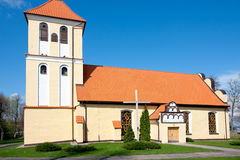Church  in Rydzewo Royalty Free Stock Images